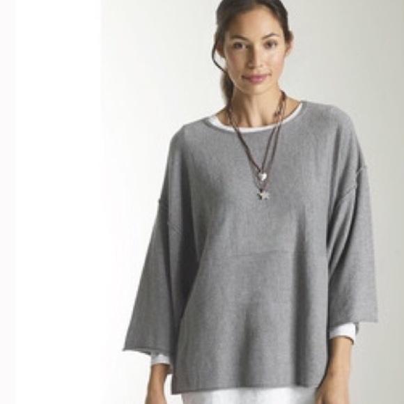 e99dcf37508 J. Jill Sweaters - J. Jill Pure Jill Kimono Gray Oversized Sweater L